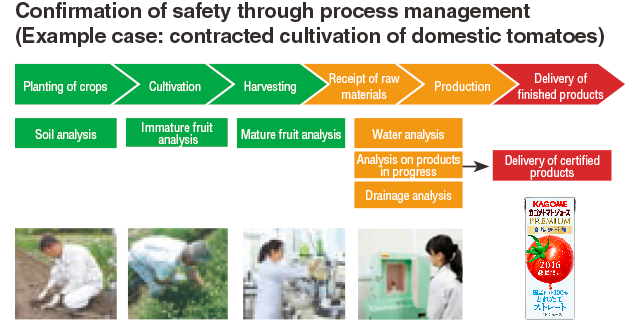 Confirmation of safety through process management