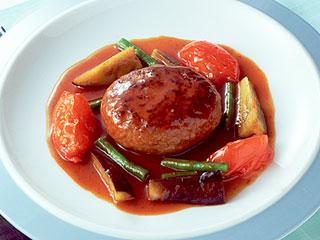 野菜の煮込みハンバーグ|カゴメ株式会社