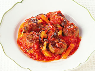 団子 トマト 缶 肉