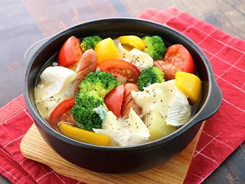 鍋 カマンベール トマト