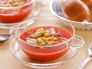 野菜で簡単!冷たいスープ