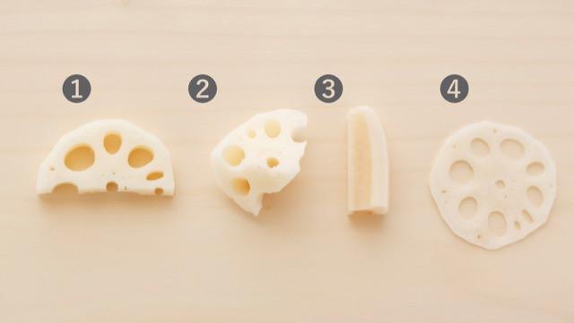 各种不断变化的食物纹理