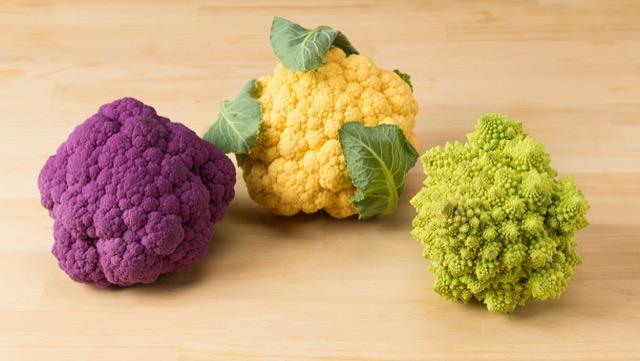 五颜六色的花椰菜:紫色花,Romanesco等
