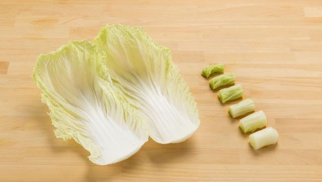 ②[内側の緑が残る部分]バランスのとれた味で、鍋ものに最適