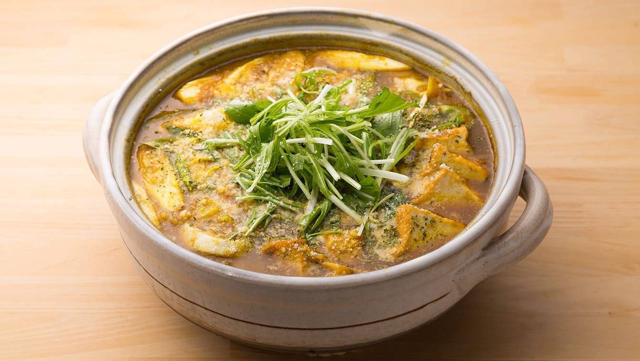 うまみを堪能!すりおろしタマネギのカレースープ鍋