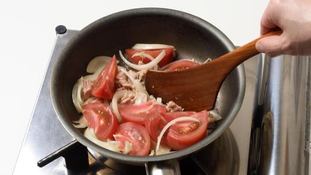 トマトとツナの炒めもののレシピ