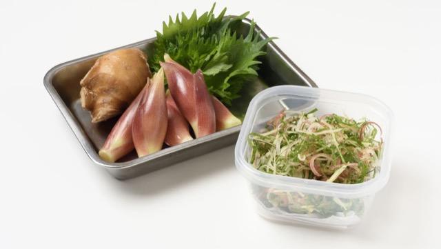 みょうが、しょうが、しその薬味野菜ミックスの作り方&保存法