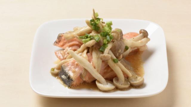 きのこと鮭のレンジ味噌マヨのレシピ