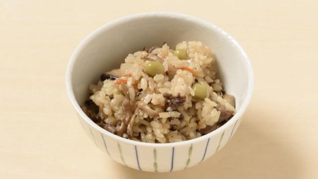 きのこと牛肉の混ぜご飯のレシピ