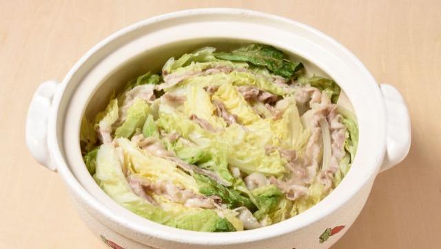 白菜と豚肉の重ね鍋のレシピ