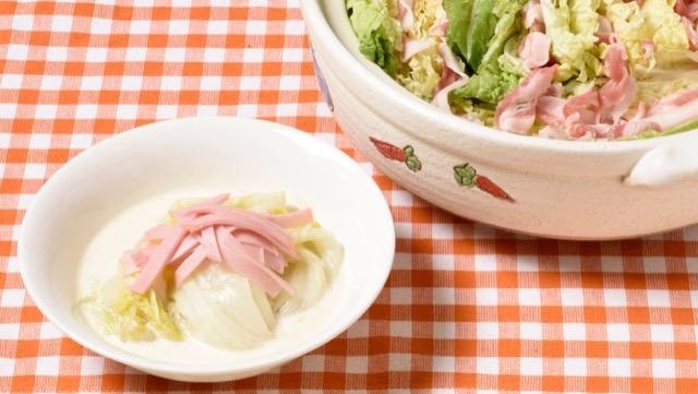 [白菜丸ごとor半分使い切りレシピ]簡単!豚肉鍋とクリーム煮