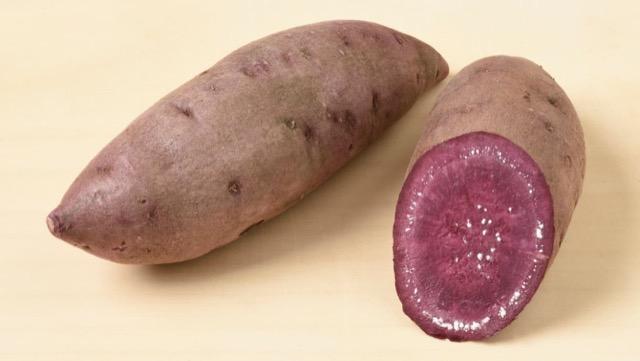 パープルスイートロードは、紫色でポリフェノールを含む品種