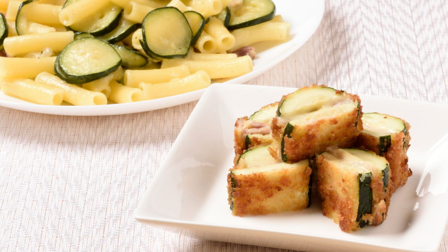 [西葫芦配方] 2种选择,使用意大利面,猪肉和奶酪