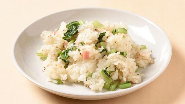 かぶの葉とベーコンの混ぜご飯のレシピ