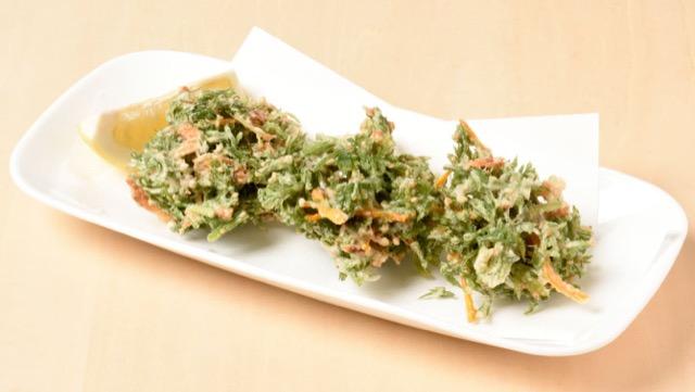 にんじんの葉のかき揚げのレシピ