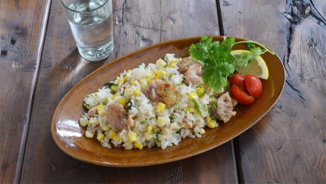 鶏肉のとうもろこしのエスニック炊き込みご飯のレシピ