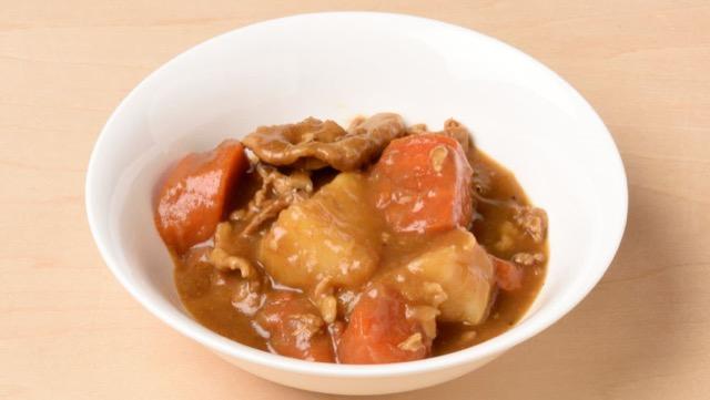 キタアカリは煮崩れるためルーの食感がなめらかになる