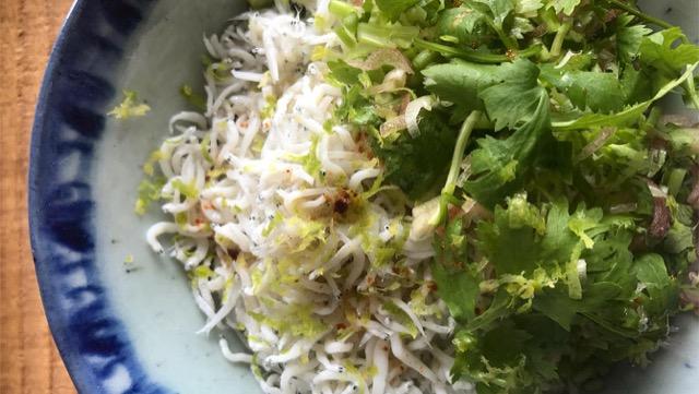 しらすのアジア丼のレシピ