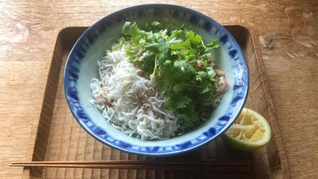 [しらす丼のレシピ]料理家が教える!パクチーなど絶品薬味添え