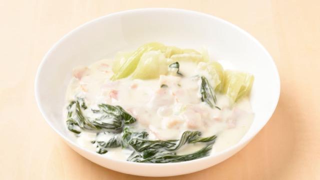 チンゲン菜のクリーム煮のレシピ