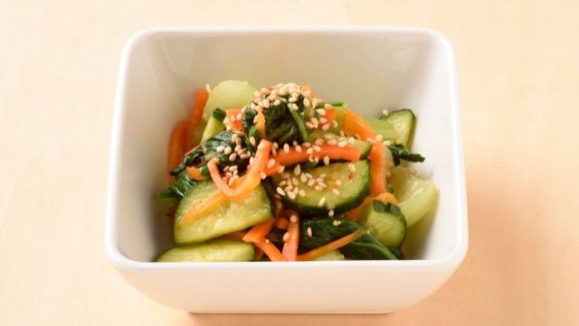 チンゲン菜ときゅうりの中華あえのレシピ