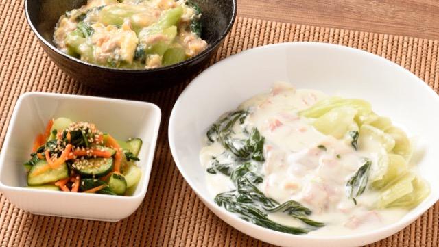 [チンゲン菜の簡単レシピ]煮るとあえるでたっぷり食べる