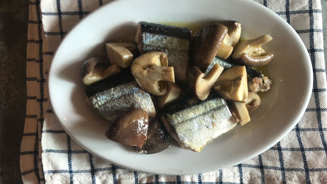 さんまと椎茸のオイル煮のレシピ