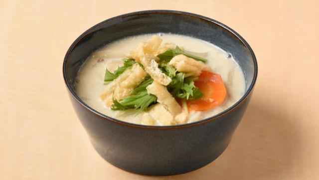 野菜たっぷり豆乳スープのレシピ