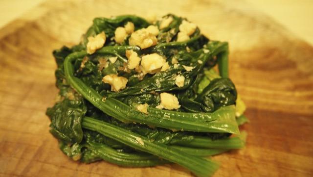 [ほうれん草発酵サラダレシピ]バルサミコ酢と味噌のコクが絶品