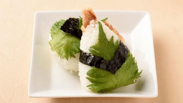 かしわの天ぷらおにぎりのレシピ