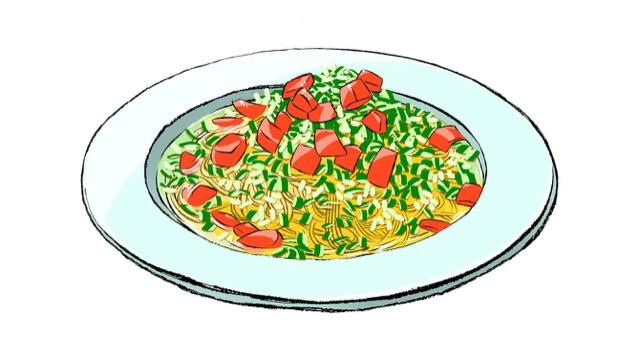 冷製スープパスタ ガスパチョ風のレシピ