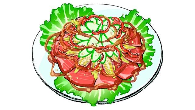 マグロの夏野菜のせカルパッチョ