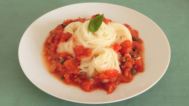 イタリアントマトそうめんのレシピ