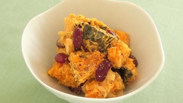 かぼちゃと豆のサラダのレシピ