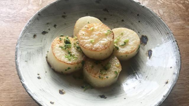 大根ステーキ レモンバターアジアンソースのレシピ
