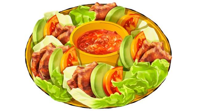 手巻き焼肉サルサのレシピ