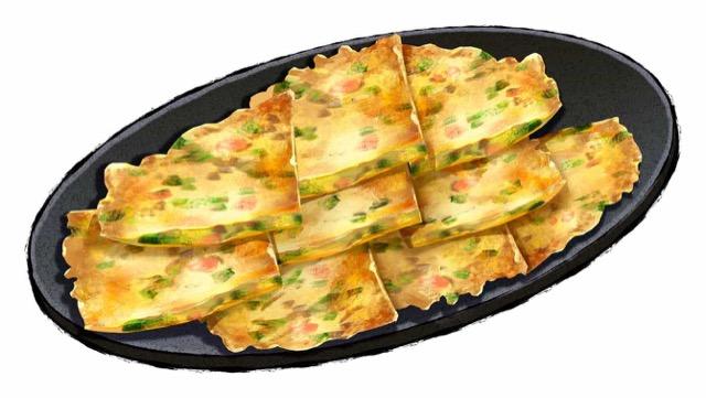春菊とパプリカのチヂミのレシピ