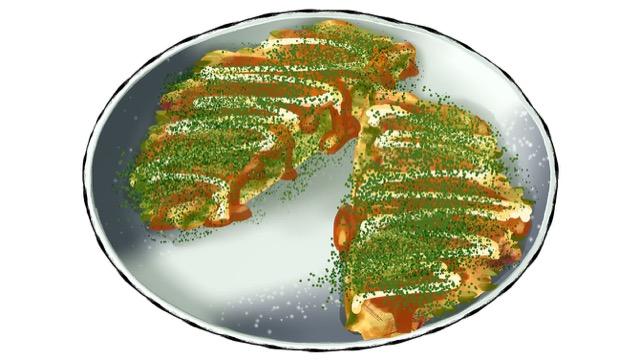 小松菜のお好み焼きのレシピ