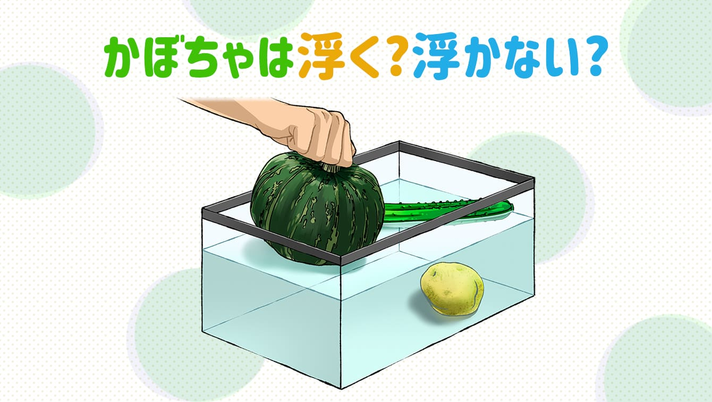 自由研究の実験に!水に浮く野菜or沈む野菜は、何で決まる?